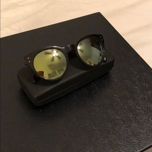 Oliver people's mirrored sunglasses